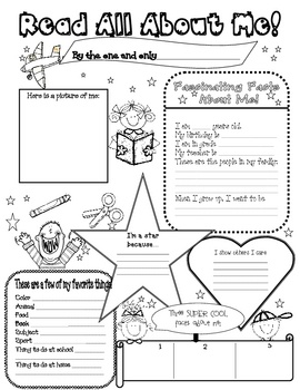 Here is an All About Me Poster to use at the beginning of the school year.