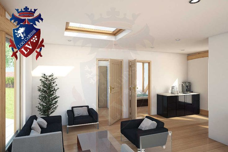 Residential Timber Frame Glulam Insulated Park Home by www.logcabins.lv (8)