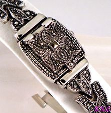 Pre Christmas Sale Deco Nouveau Rococo Baroque Medieval Marcasite Bracelet Watch