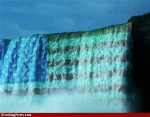 Very Cool - stars & stripes on Niagara Falls