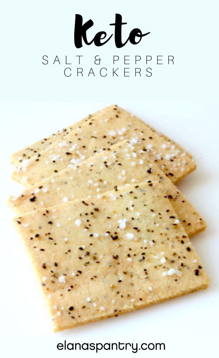 Keto Salt And Pepper Crackers Recipe Elana S Pantry Recipe Keto Crackers Recipe Keto Diet Recipes Cracker Recipes