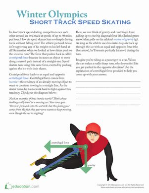 Winter Olympics Worksheets | Winter Olympics Fifth Grade Physical Science Worksheets: Winter ...