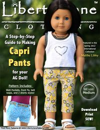 FREE SAMPLE GUIDEBOOK | Liberty Jane Doll Clothes Patterns For American Girl Dolls LOTS of free doll clothing patterns! :)