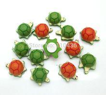 16x21mm 50 pz colore misto mini legno tartaruga mestiere, kawaii decor wall sticker, 3d frigorifero sticker, decorazione della casa, giocattoli per bambini(China (Mainland))