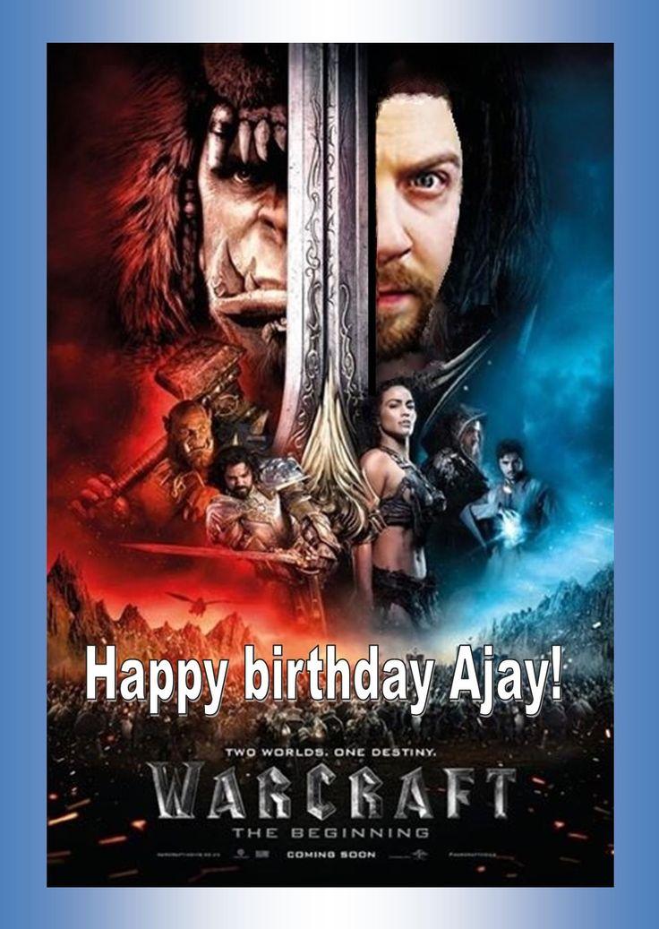 Ajay Fry birthday tweet, 2016.
