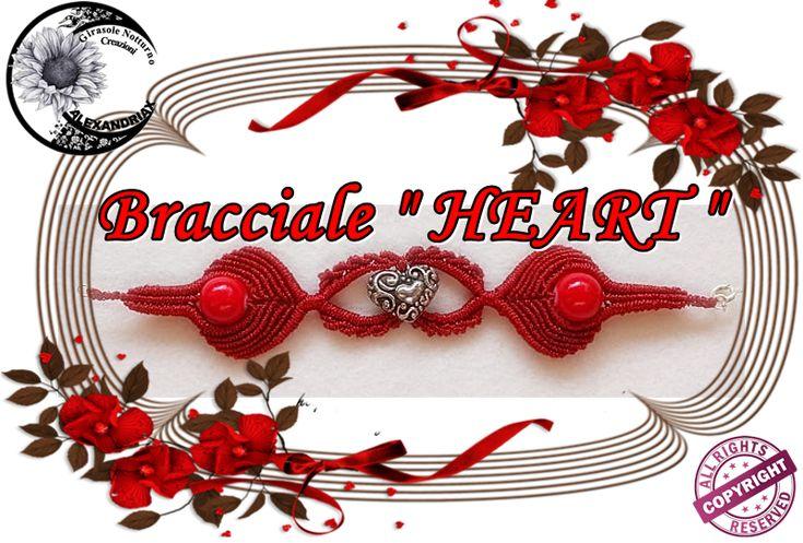 Macramè Tutorial Bracelet HEART