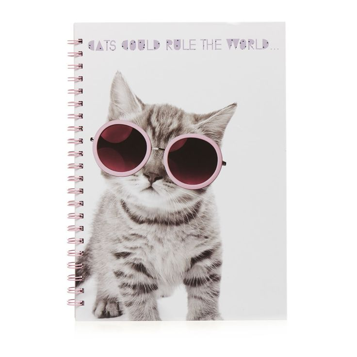 Wilko I Like Cats A4 Notebook #cats #stationery #pencil #pencils #pen #pens #notebook #pad #kids #school #schoolwork #classroom #children