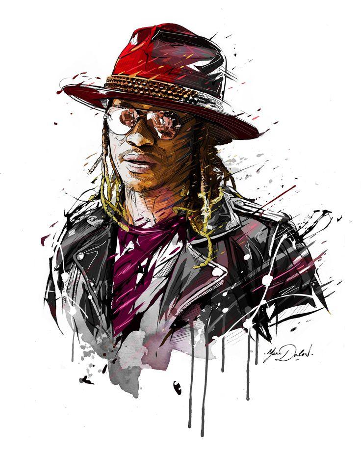 "My illustration of Nayvadius DeMun Wilburn aka"" FUTURE"".American rapper."