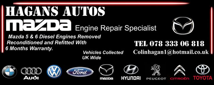 At Hagans Autos, we offer the Mazda 6 2.2 diesel engine Failure and Reconditioned services at affordable prices. Find Mazda 6 2.2 Engine Replacement Cost in our website. Feel free to get in touch for any query! http://www.hagansautos.co.uk/mazda6engine.html