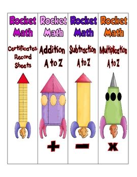 "FREE Rocket Math Binder Organization Labels..... Follow for Free ""too-neat-not-to-keep"" teaching tools & other fun stuff :)"