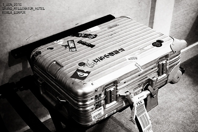 Rimowa Topas Aluminum Silver Cabin Trolley IATA by p!ng, via Flickr