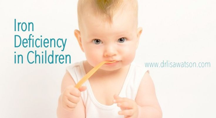 Iron deficiency in children.  Food sources of iron and how to recognize an iron deficiency in your kids.