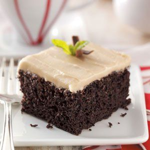 Chocolate Mayonnaise Cake Recipe -Mom always made this special chocolate mayo cake for my birthday meal. It's very moist and has a nice, light chocolate taste, and the flavorful frosting is the perfect topping. — Deborah Amrine, Grand Haven, Michigan