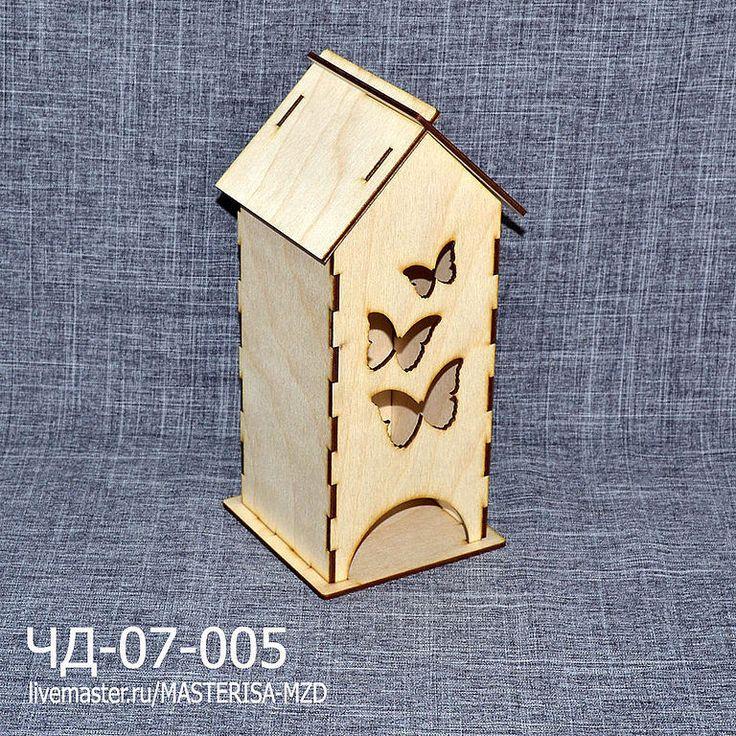 """Купить ЧД-07-005 Заготовка чайный домик - """"Три бабочки"""". - бежевый, чайный домик"""