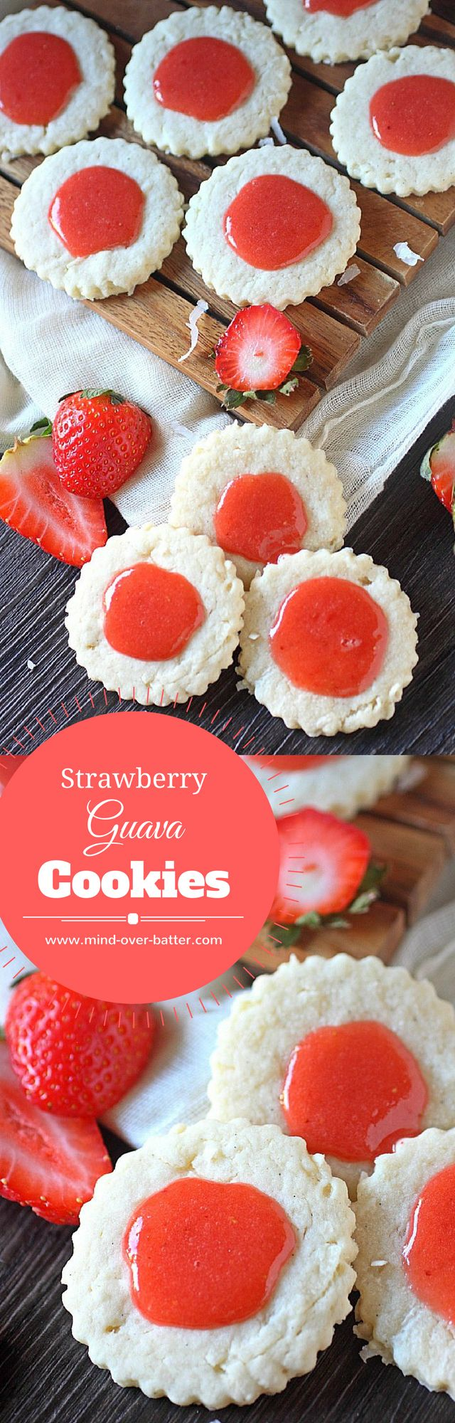 Strawberry Guava Cookies -- www.mind-over-batter.c…