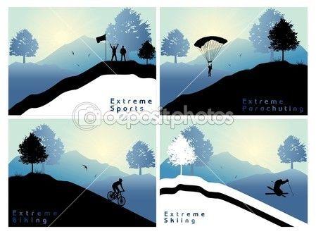 Экстремальные виды спорта — стоковая иллюстрация #7274942