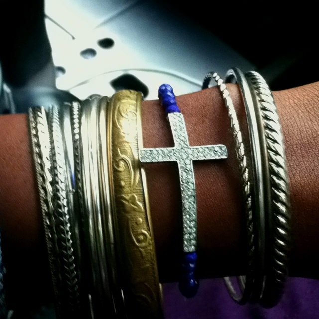 Horizontal Cross Bracelet