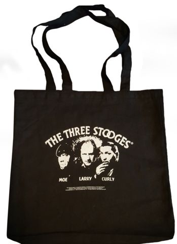 Three Stooges opening credits logo tote bag. For the Three Stooges fan in your life, the gift is in the bag! $9.99