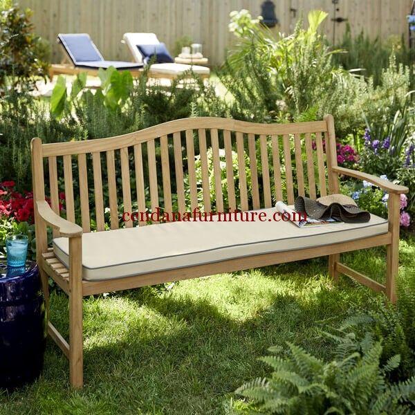 Bangku Taman Minimalis Jati Mountain terbuat dari kayu jati/mahoni dengan design minimalis yang memperindah tampilan garden anda.