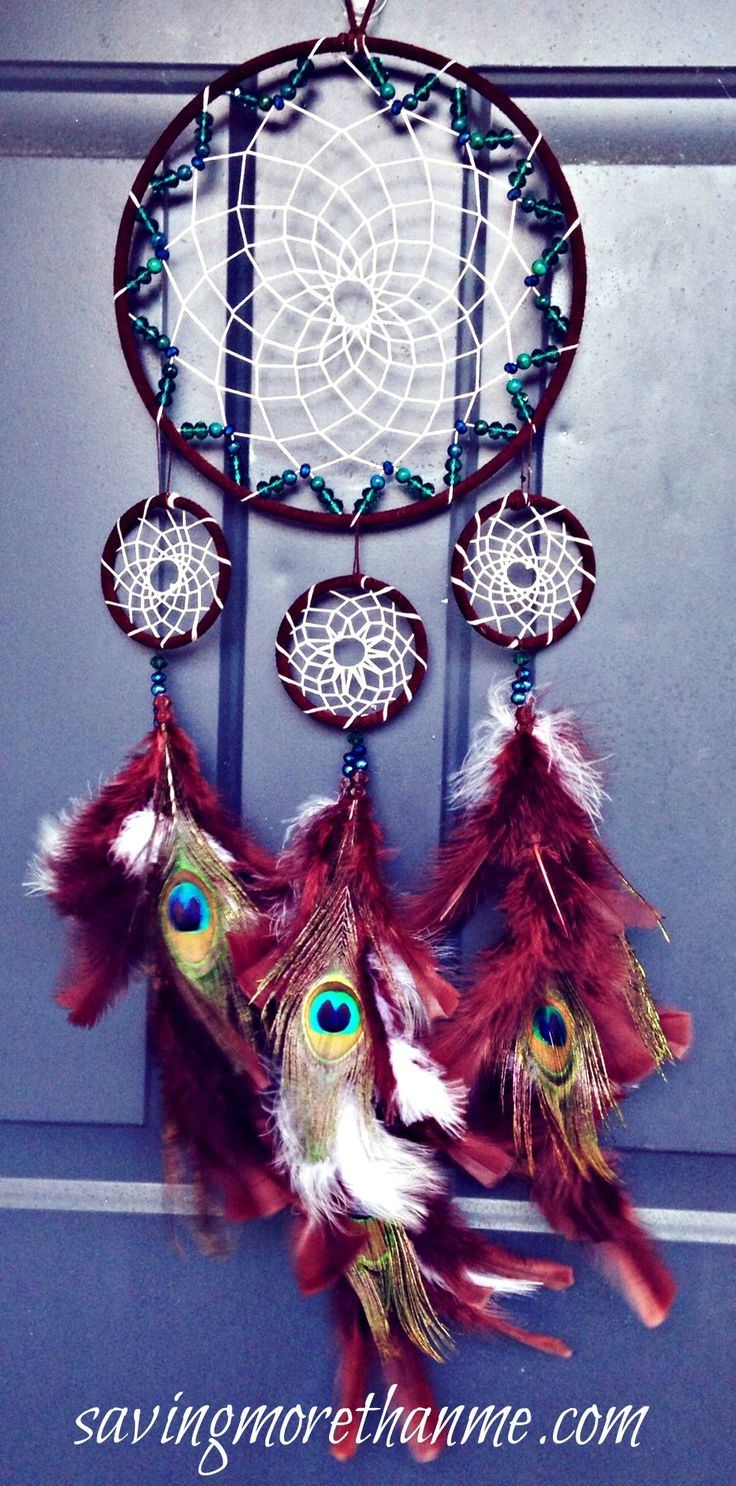 DIY Peacock Dreamcatcher: for my Keke, don't tell her.