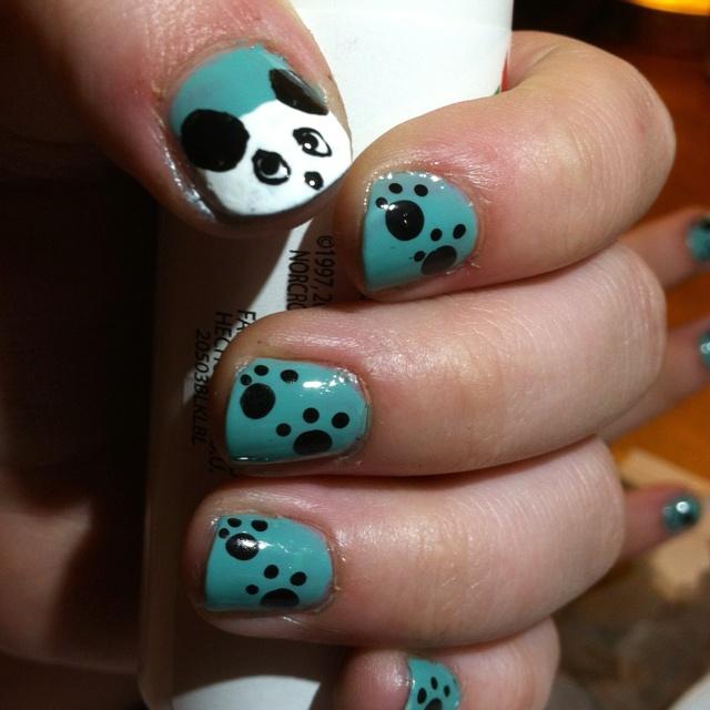 1000+ Images About Panda Bear Nail Art Designs & Tutorial