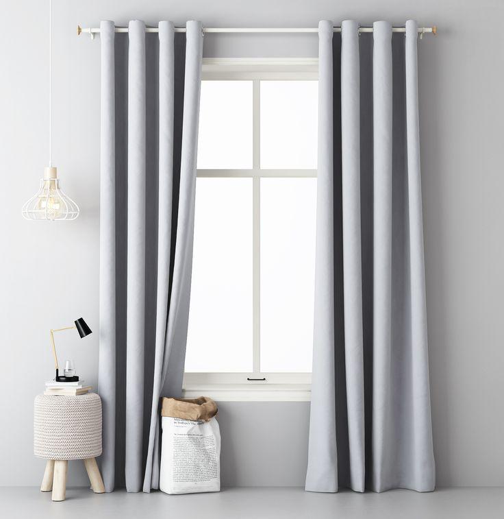 Elegantné závesy svetlo sivej farby
