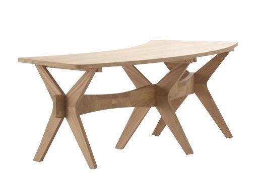 Kitchen Wooden Bench Seat Brown Conservatory Oak Veneer Living Room Furniture