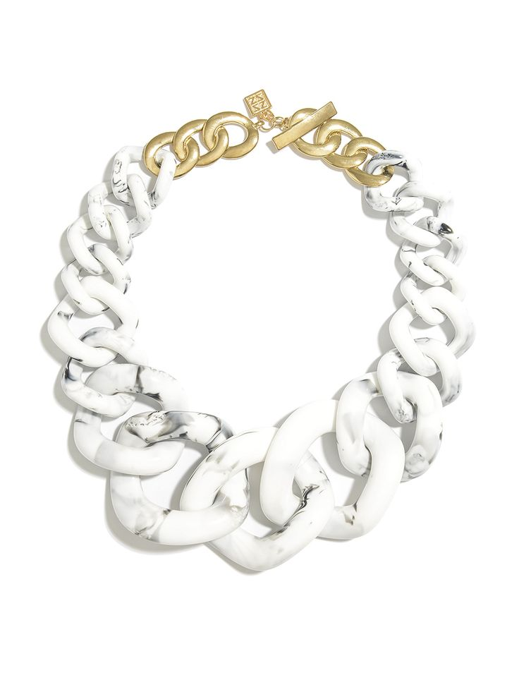 Oversized Marble Link Collar