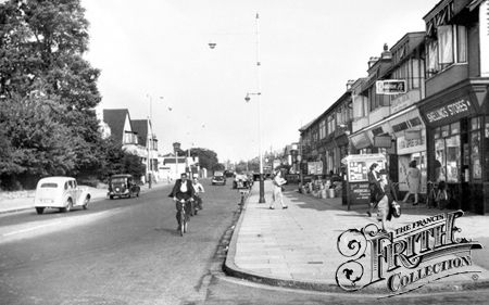 Romford, Old photo of Hornchurch Road c1950