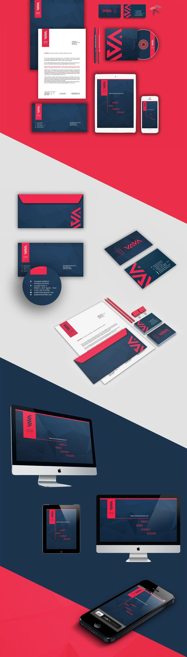 """Personal Identity Design. Leonardo Gubbioni is a graphic design student based in Terni, Italy. He graduated in 2010 in """"Advertising Techniques"""" at the """"Uni"""