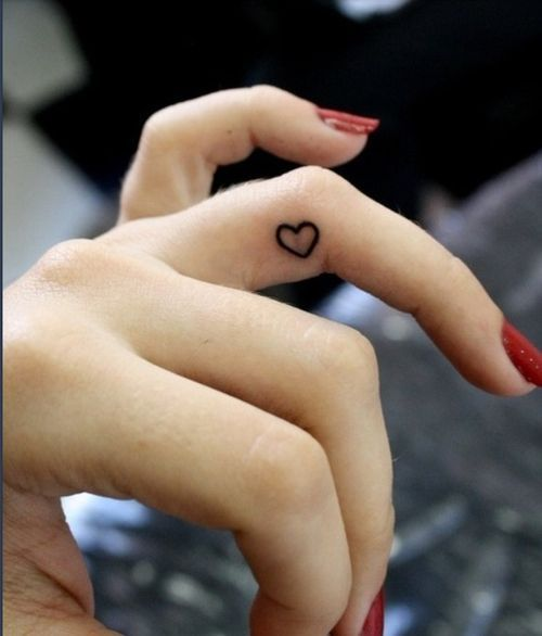 I want this heart on the inside of my pinkie and then 143 on my pointer, middle and ring finger respectively.  (143 = I Love You)