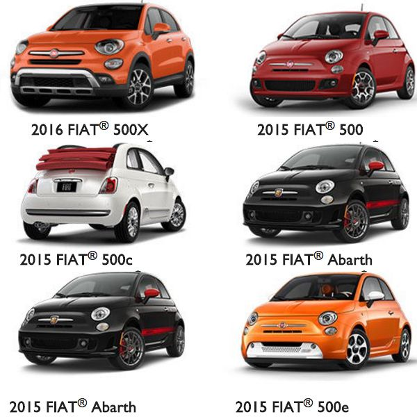 With over a dozen colors and amazing models to choose from, #FiatLove is appropriate!