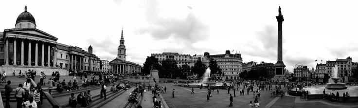 Trafalgar Sq: Photography Panoramiqu, Panoramic Image, Favorite Places, Alternative London, Favourit Places, London Panoramic, De Trafalgar, Trafalgar Squares, White Photos