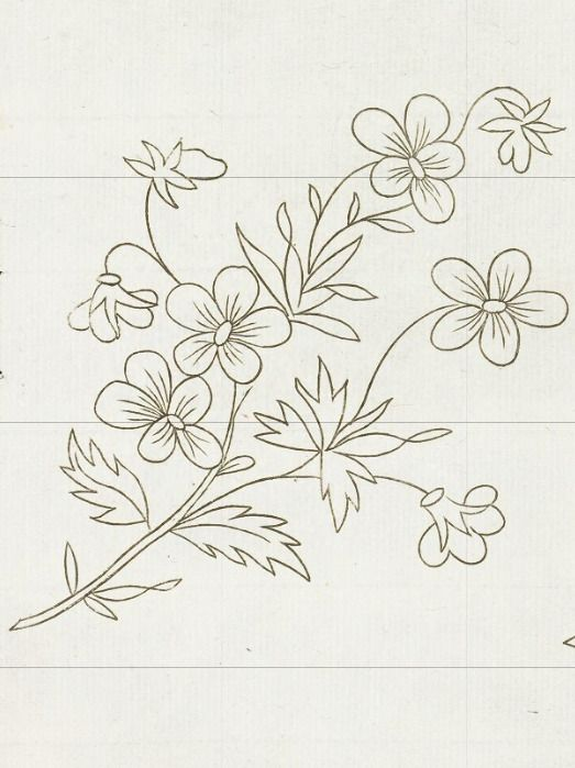 Papatya.. Embroidery Pattern. Image Only. Unknown Source. jwt