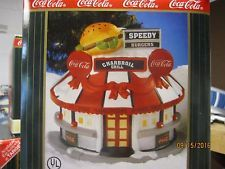 "TRAIN HOUSE VILLAGE  "" COCA-COLA SPEEDY BURGERS DINER "" + DEPT 56/LEMAX info!"