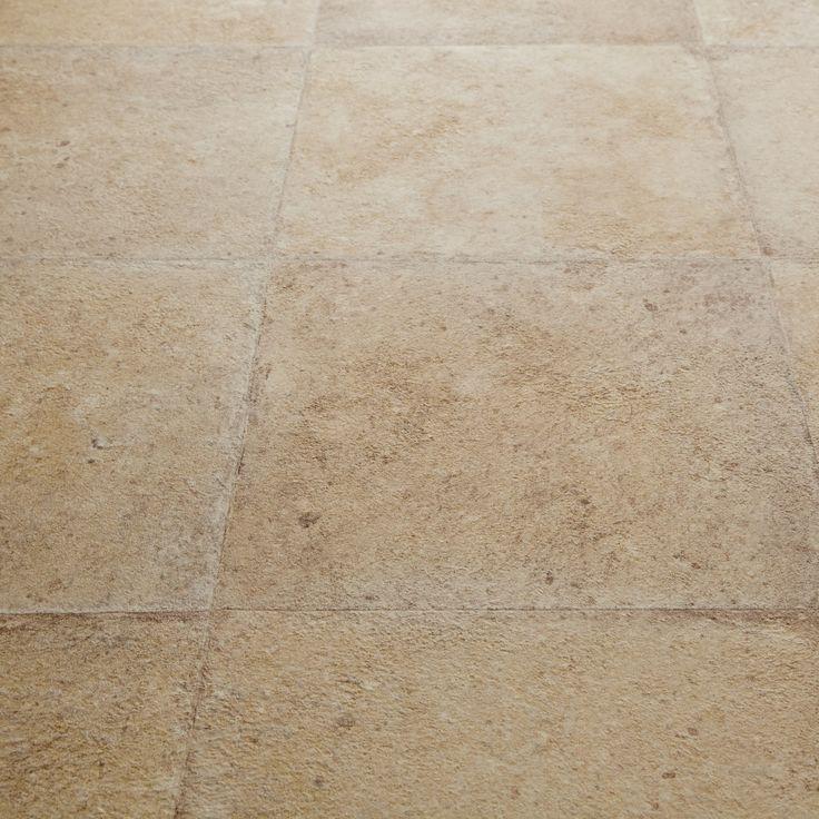 rhino hoggar beige stone tile effect vinyl flooring - Wintergartendesigns