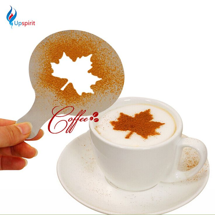 16Pcs/Set Mold Coffee Milk Cake Cupcake Stencil Template Coffee Barista Cappuccino Template Gusto Strew Pad Duster Spray Tools