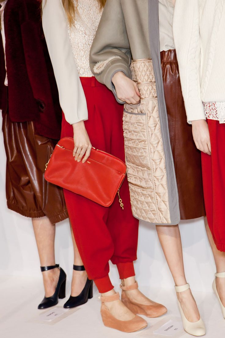 Chloé: Style, Fall Shoes, Colors Stories, Fall 2012, Colors Palettes, Black Shoes, Fall Fashion, Red Pants, Chloe Fall