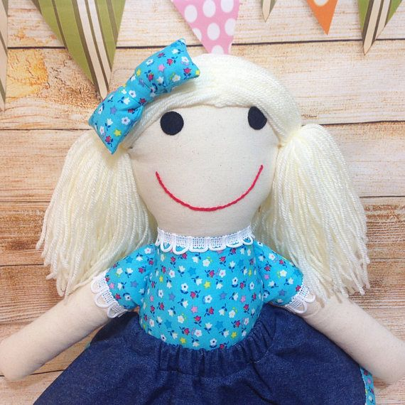 Soft #Doll, Fabric Doll, Cloth Doll, First Doll, Handmade Doll, Birthday Gift, Rag Doll, Girls Gift   This is a small, soft, fabric and modern rag doll. It is an ideal first... #doll