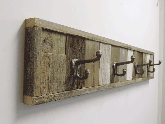 "glamorous bathroom towel rack decorating ideas | 37.5"" Rustic Beach Cottage Barnwood Wall Mounted Towel ..."