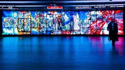 don't go to an art gallery see top and fantastic art in the world's subways