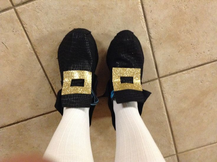 Captain Hook shoe covers with white compression socks….Hmmm for K's race costume?