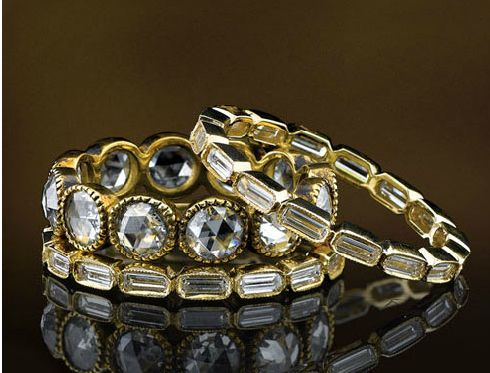 Diamond eternity bands by Single Stone