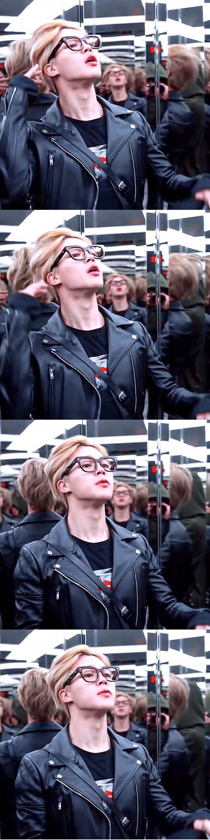 Jimin (ノ゙⌯'⌄'⌯)ノ゙* how dose one look so sexy while doing something normal