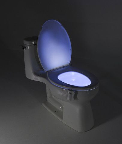 Toilet Night Light by GlowBowl.The GlowBowl Motion Activated Toilet Nightlight will transform ANY toilet into a nightlight. No more missing your target or stumbling around in the dark!l