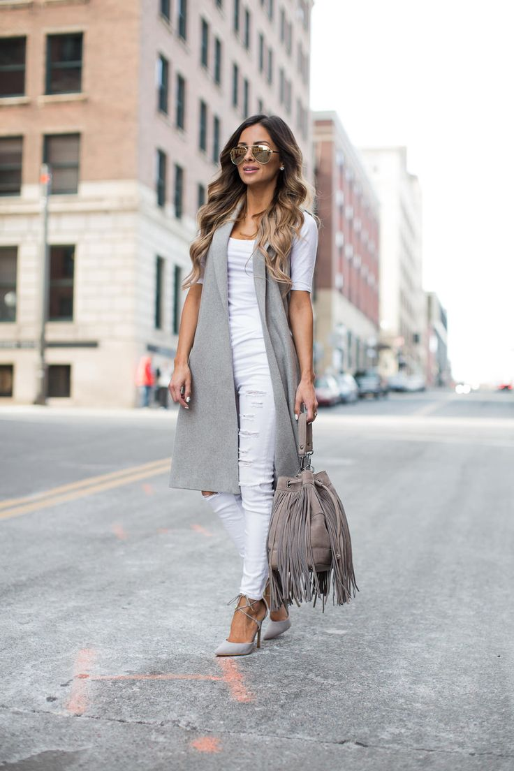 Best 25+ Long vest outfit ideas on Pinterest | Long vests ...