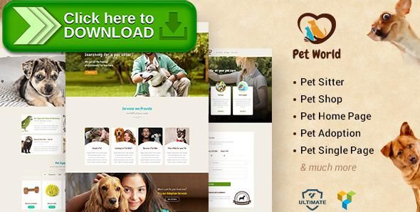 [ThemeForest]Free nulled download Pet World - Pet Sitter and Pet Shop, Animal Care WordPress Theme from http://zippyfile.download/f.php?id=25432 Tags: animal care, animals, birds, care taker, cats, dog, dog training, dogs, pet doctor, pet shop, pet sitter, pet trainers, pet training, pets, veterinary doctors