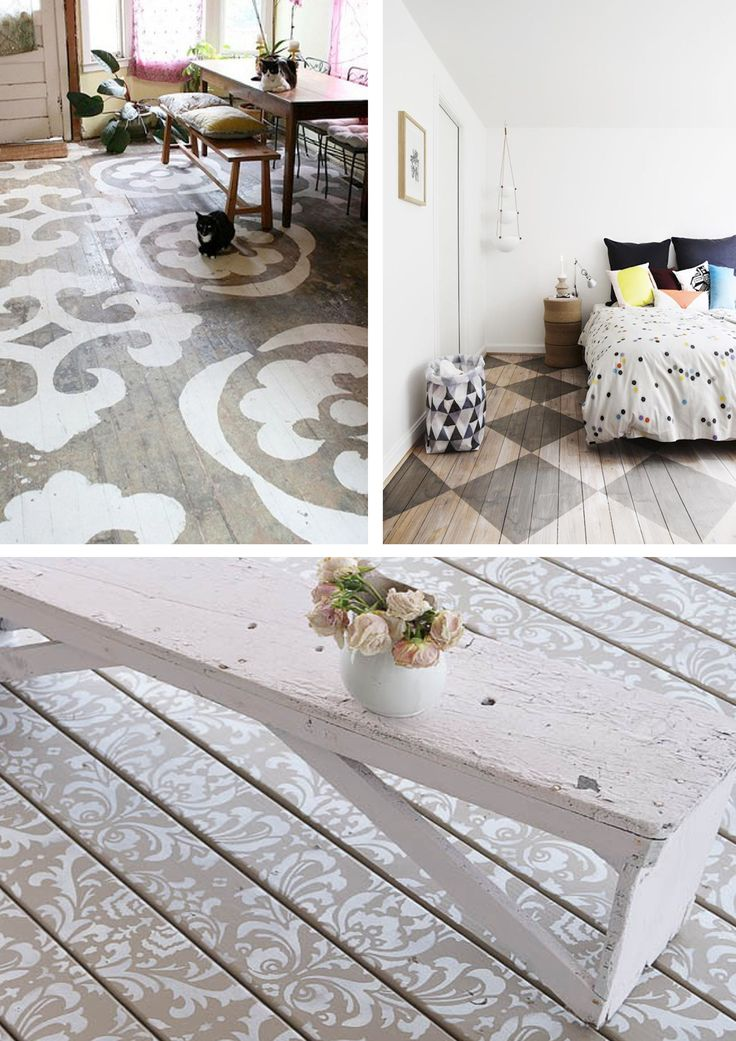 38 best floors images on pinterest wood floor wood flooring and stencilled wooden flooring with diy stencilling examples and ideas for do it yourself at home stencil solutioingenieria Choice Image