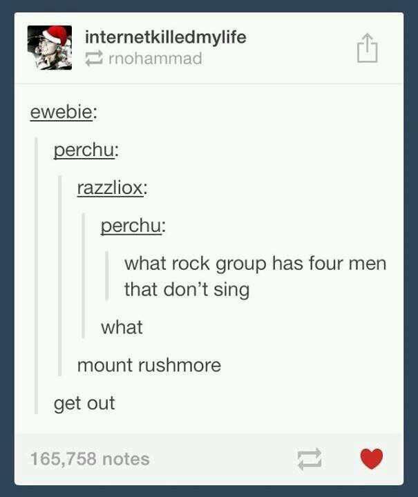 What rock group has four men that don't sing?