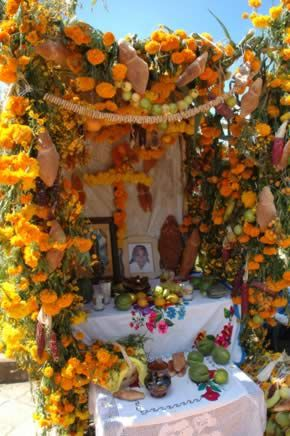 Dia de los muertos ofrenda, Michoacan, Mexico - photo by A. Villalba  (There are two fact sheets that can be downloaded on this page)